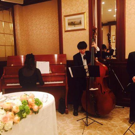 京都の某ゲストハウスにてJazz Bandの生演奏をさせて頂きました。