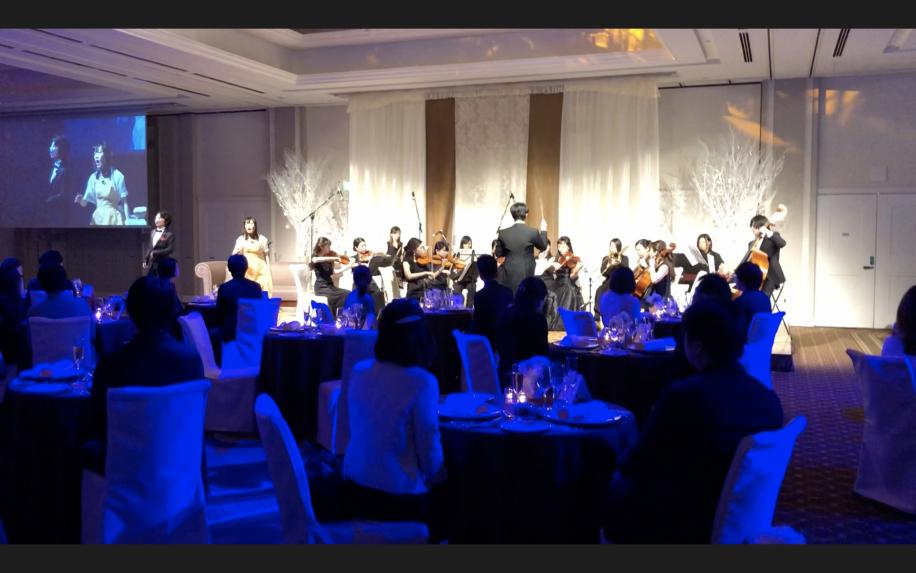 クリスマス・オーケストラ。神戸の素敵なホテルの夕べに出演させていただきました。